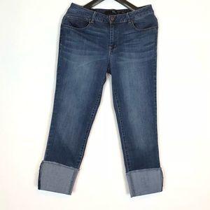 1822 Denim Taylor Roll Cuff Jeans Size 12